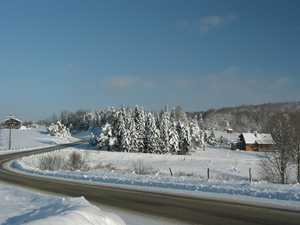 """Winter on Nanticoke Road"" image"