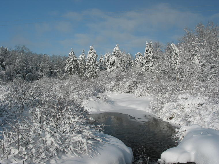 Snow and Water photo