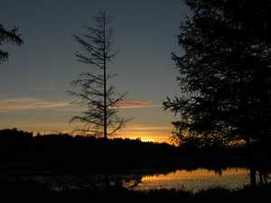 """Sunset over Twin Pond"""