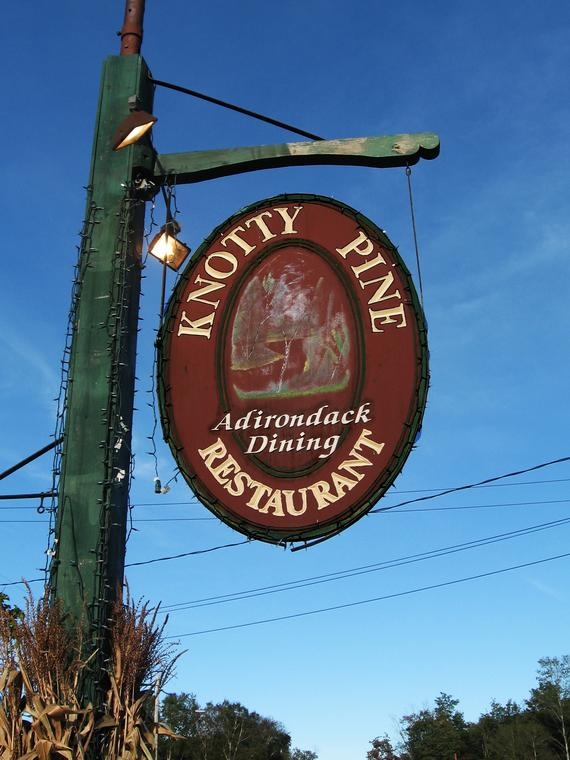 Knotty Pine Sign photo