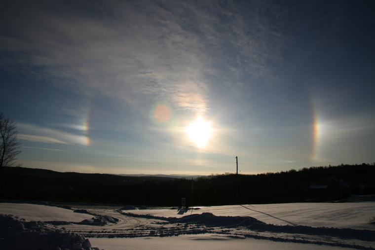 Sundogs in Winter photo