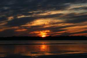 """Sunset on Cayuga"" image"