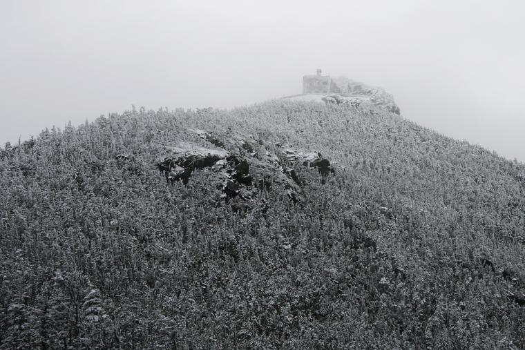 Snow-shrouded Summit Castle photo