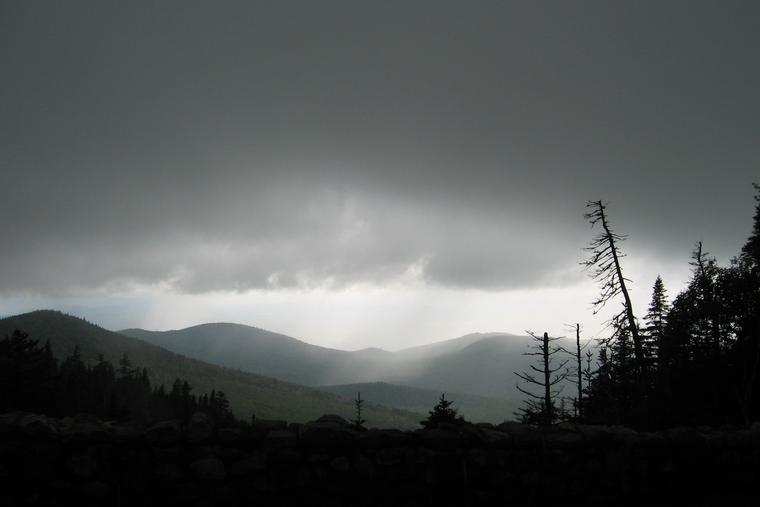 Rainstorm in the valley -- from Whiteface mountain photo