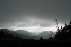 """Rainstorm in the valley -- from Whiteface mountain"" image"