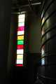 """Wine vat and Stained-glass window"""