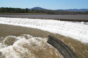 """Ashokan Spillway at High Water II"" image"